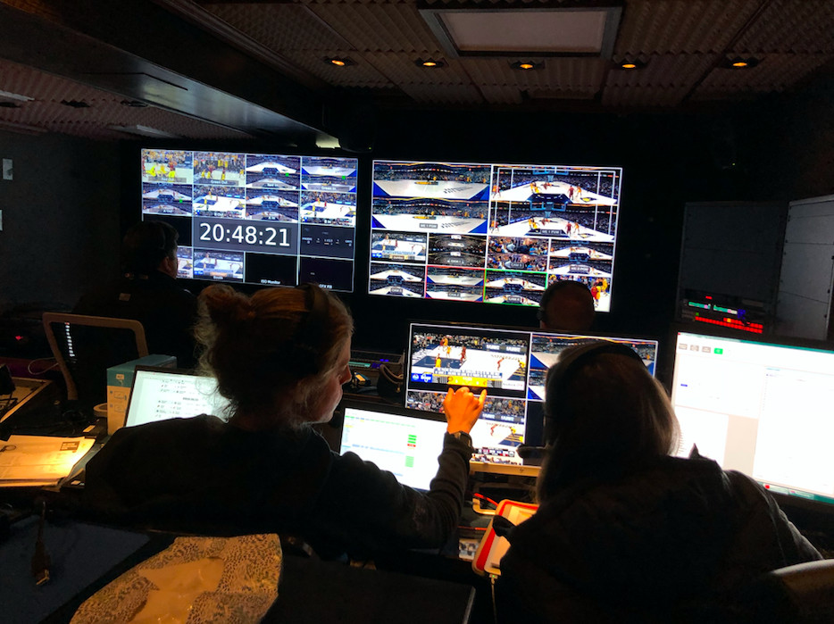 af7007b75 I first met with Intel exec Nadia Banks, who took me to the VR truck in the  broadcast compound, a very typical broadcast truck with lots of screens, ...