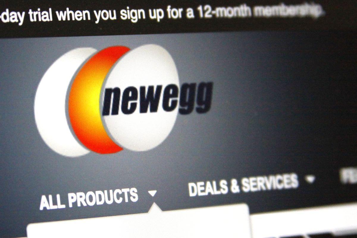 Newegg website on a computer screen