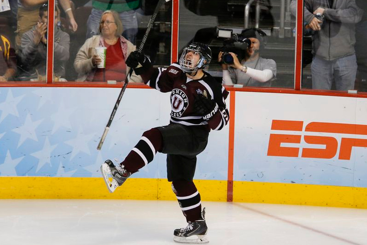 Mike Vecchione and his Union teammates hope to do a lot of celebrating next weekend at Cornell.