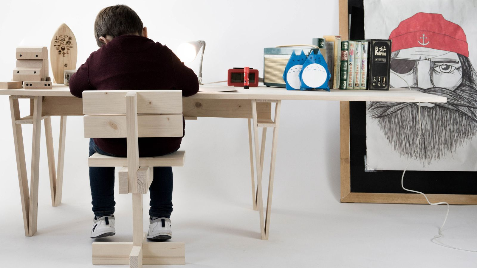 This simple kids chair is made from 11 pieces curbed for Furniture assembly seattle