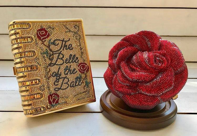 Judith Leiber Beauty and the Beast clutches