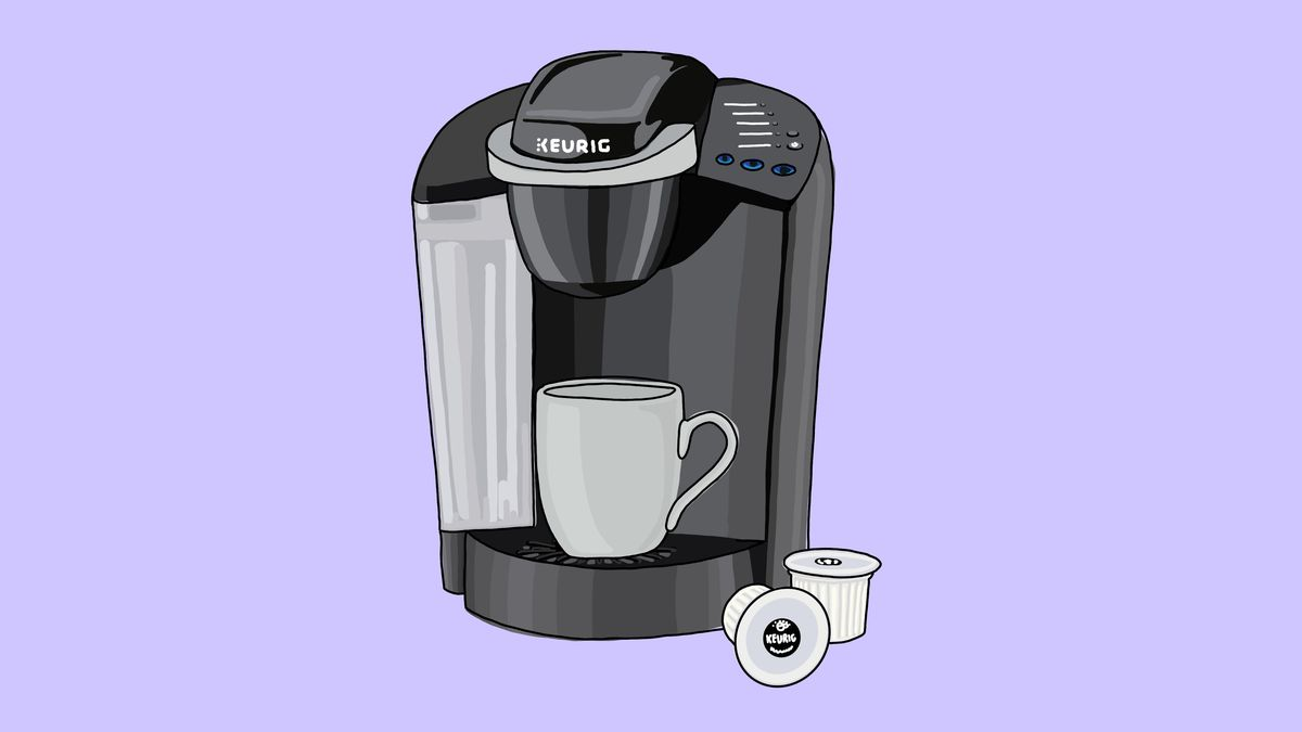 A Keurig coffee maker and pods.