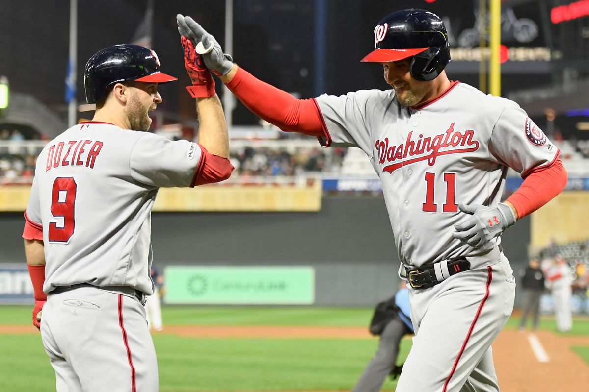 Washington Nationals even things up with Minnesota Twins, win 6-2 tonigth in Target Field...