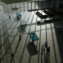 The communal space contains pool and pingpong tables for the employees at the Adobe Systems Inc. Utah home base in Lehi on Thursday, Dec. 6, 2012.