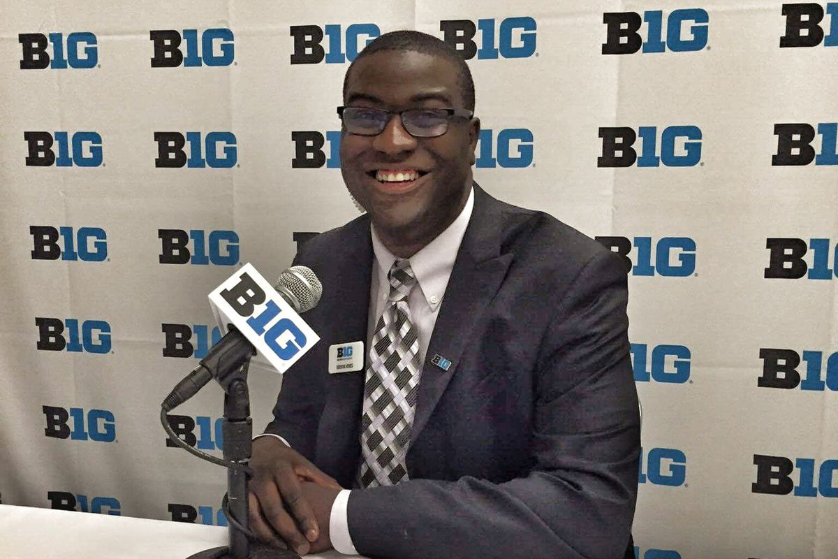 Bryson Jones played soccer at Mercer Univ. and now works for the Big Ten conference.