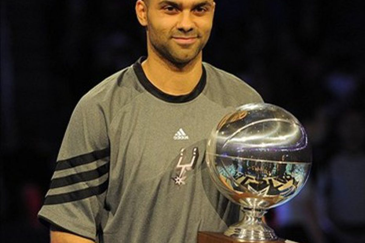 If there's any justice in the world, Tony Parker should be at the top of the list to receive another  trophy here pretty soon. But for League MVP, instead of some <strike>silly</strike> ASB skills challenge.