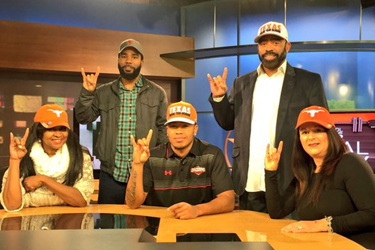 Eric Cuffee and his family after his announcement