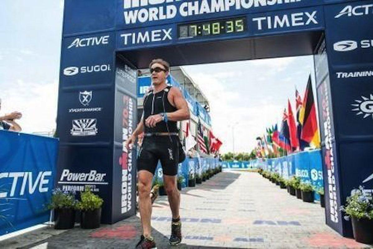 Celebrity chef Gordon Ramsay finishesthe Ironman 70.3 World Championship in Henderson in 06:38.36 on Sunday.