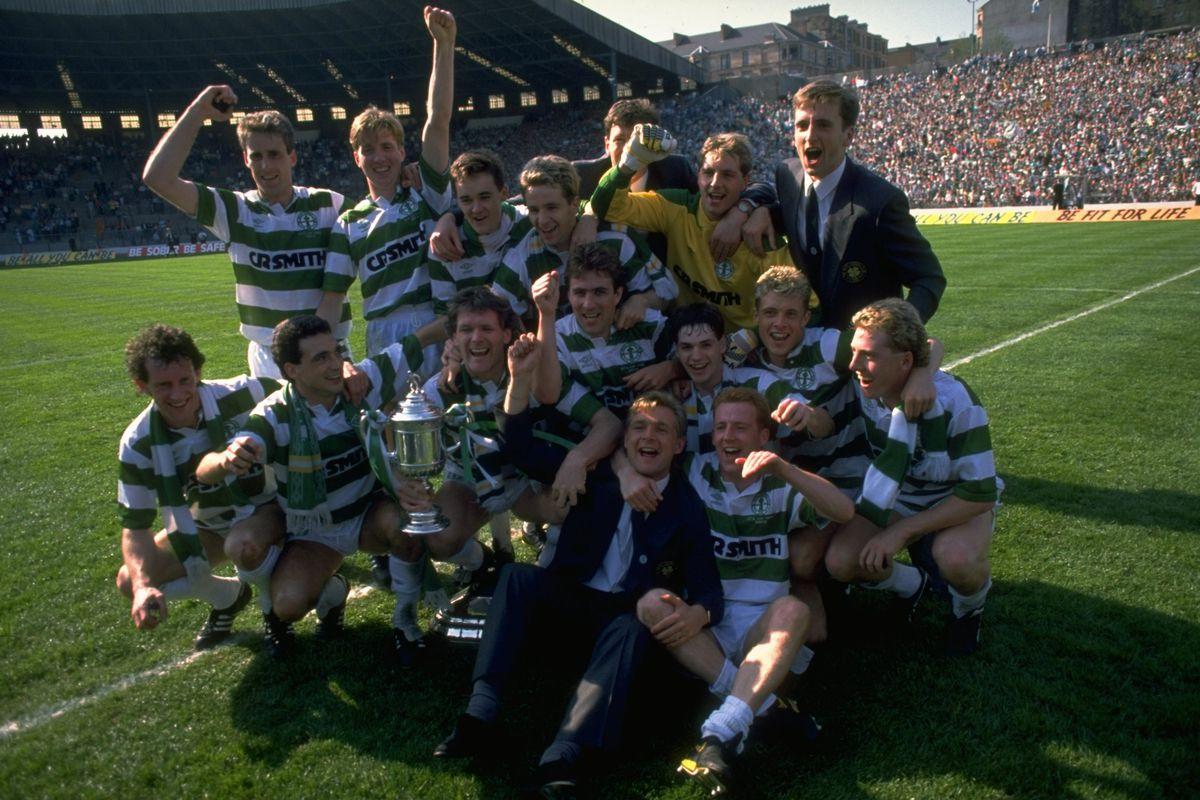 Celtic celebrate after winning