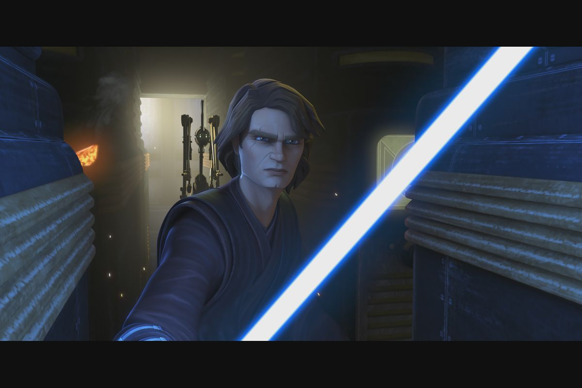 """Jedi Knight Anakin Skywalker leads the fight behind enemy lines in """"Star Wars: The Clone Wars,"""" exclusively on Disney Plus."""