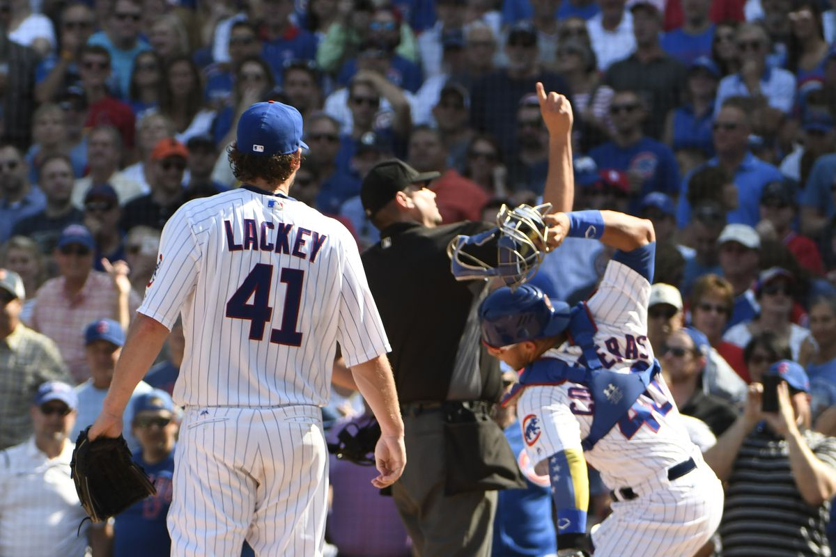 Lackey and Contreras lose their cool, could face suspension