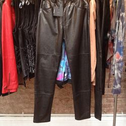 Leather pants, $225