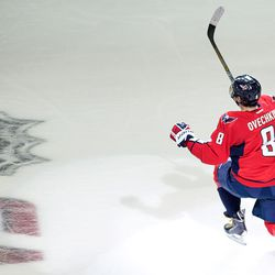 Ovechkin Celebrates a Goal