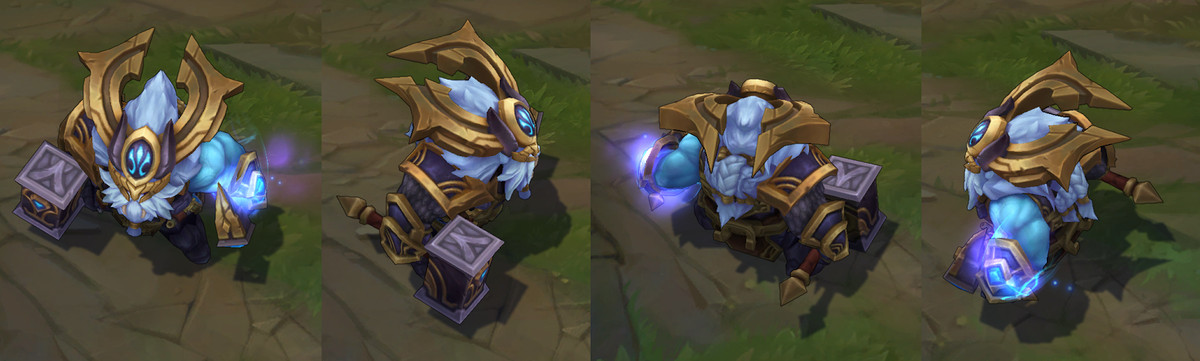 Ornn Release Skin Thunder Lord Is Blue Shiny And Walrus