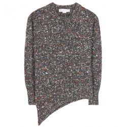 "Stella McCartney asymmetrical hem sweater, <a href=""http://www.kirnazabete.com/tops/sweaters/asymmetrical-hem-sweater?color=Charcoal"">$965</a>"