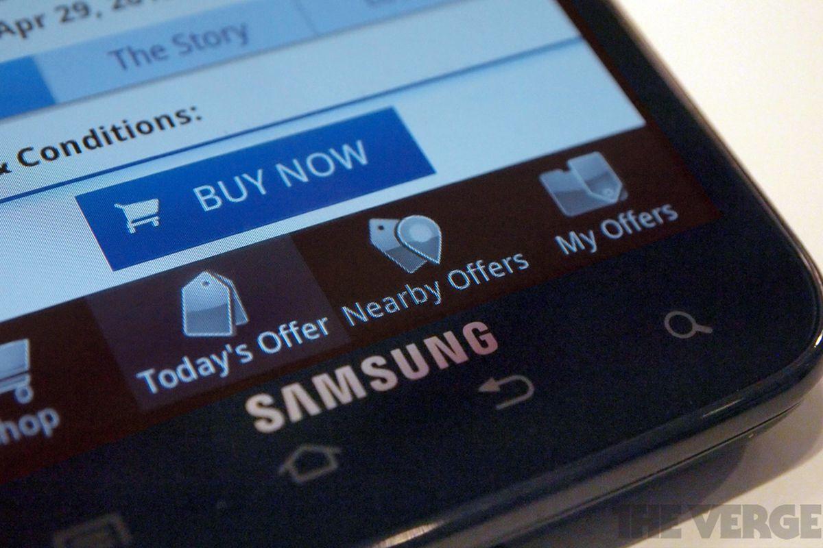 Google Offers on Samsung G S II Skyrocket