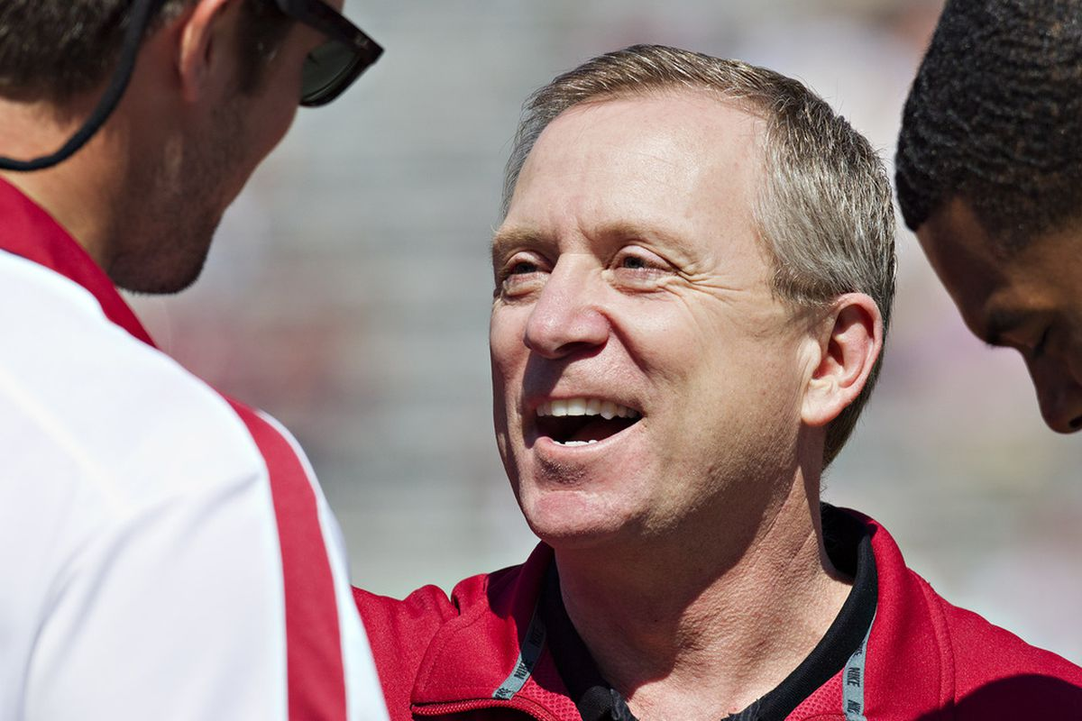 Jeff Long made a thought-provoking choice in John L. Smith as interim head football coach.