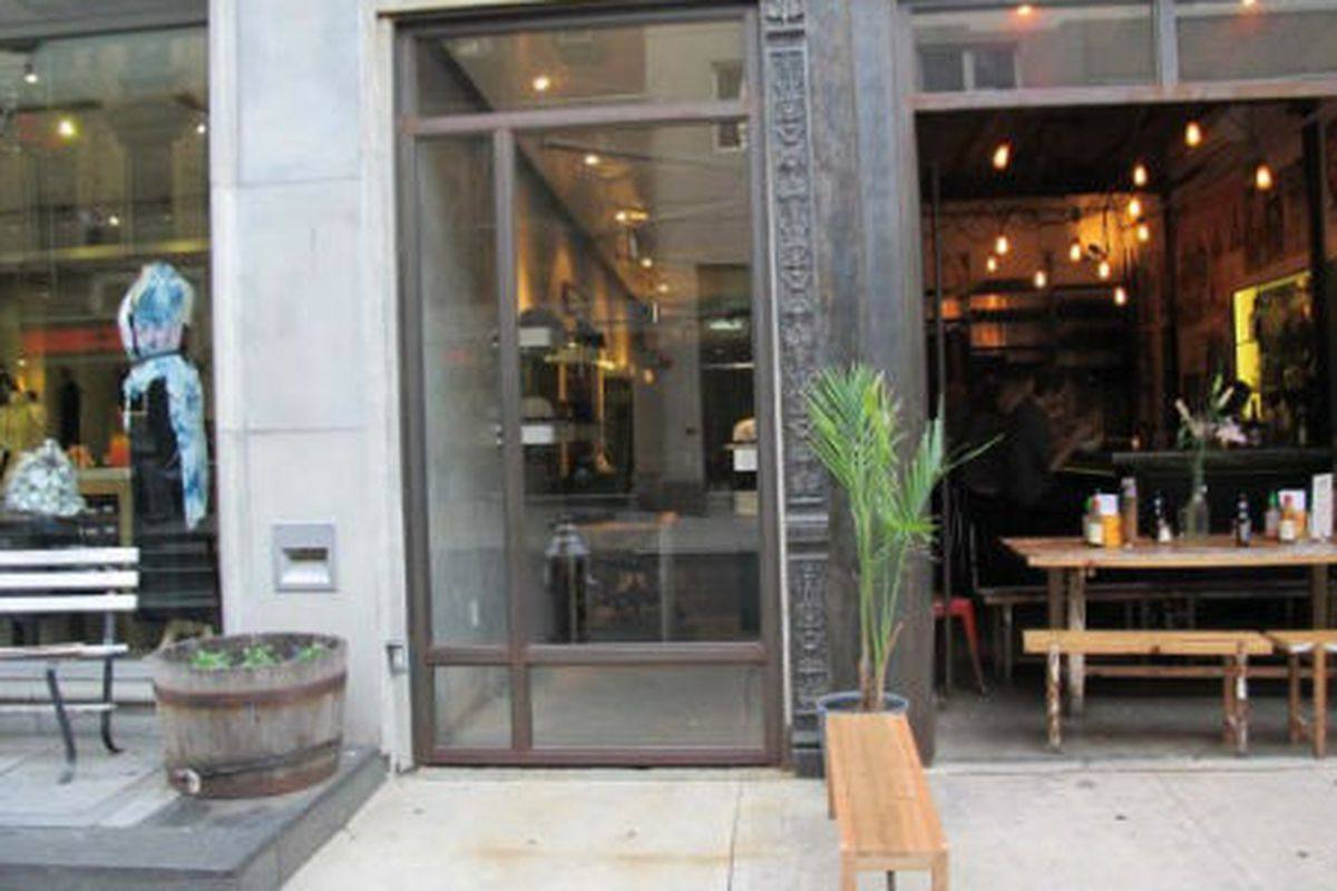"""The Still Life-pop up on Orchard Street (middle storefront), image via <a href=""""http://www.boweryboogie.com/2012/04/still-life-returns-to-orchard-street-with-pop-up-shop/"""">Bowery Boogie</a>"""