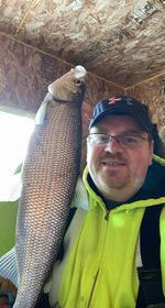 Fraser Semple with a Sturgeon Bay whitefish. Provided photo