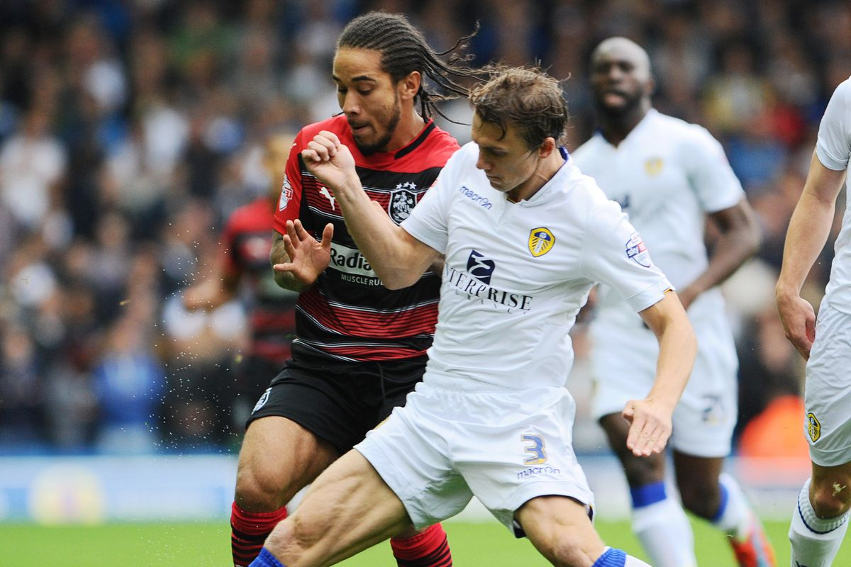 Stephen Warnock doing what he does best