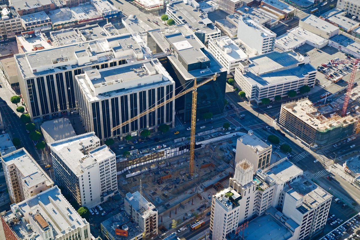 Cranes in Downtown LA