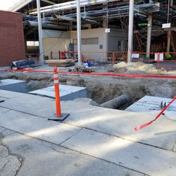 Ongoing work on the Hole on Waveland