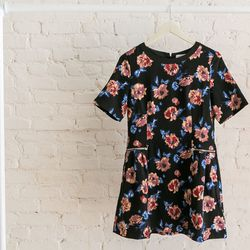 Dahlia floral print dress, $199
