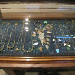 Bentley's arrowhead and bead necklaces