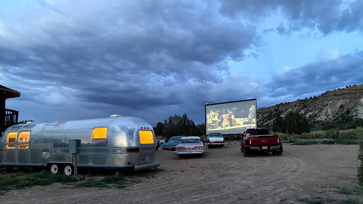 Every night, a movie selected by a guest text lottery plays at the Yonder Escalante drive-in theater near Grand Staircase-Escalante National Monument.