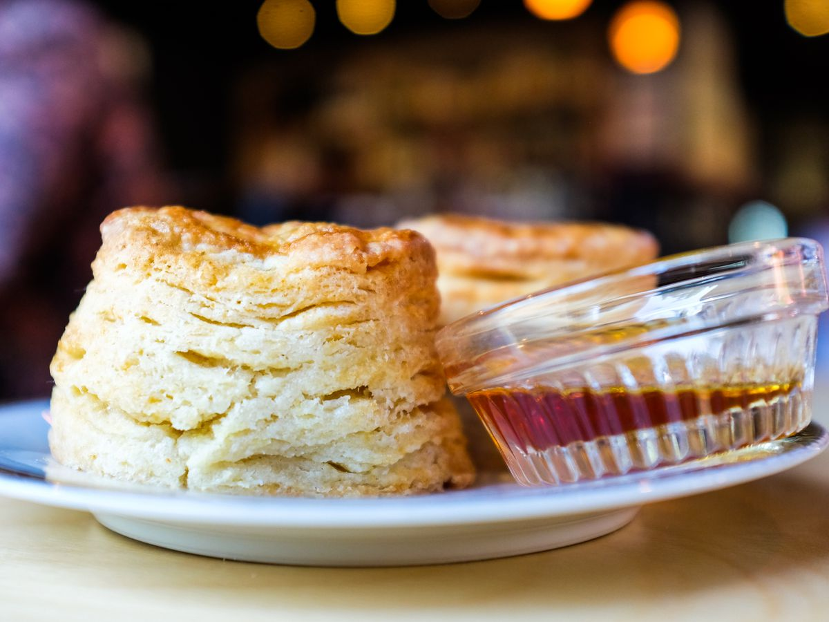 Buttermilk biscuits with pure cane sugar at Junebaby, which is celebrating New Year's Eve with a fried chicken dinner.