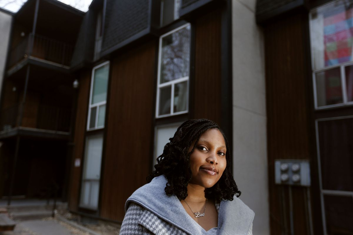Jasmine Walton is photographed at her rental apartment in Salt Lake City on Wednesday, March 10, 2021. Walton and her fiancé are in the process of trying to buy their first home.