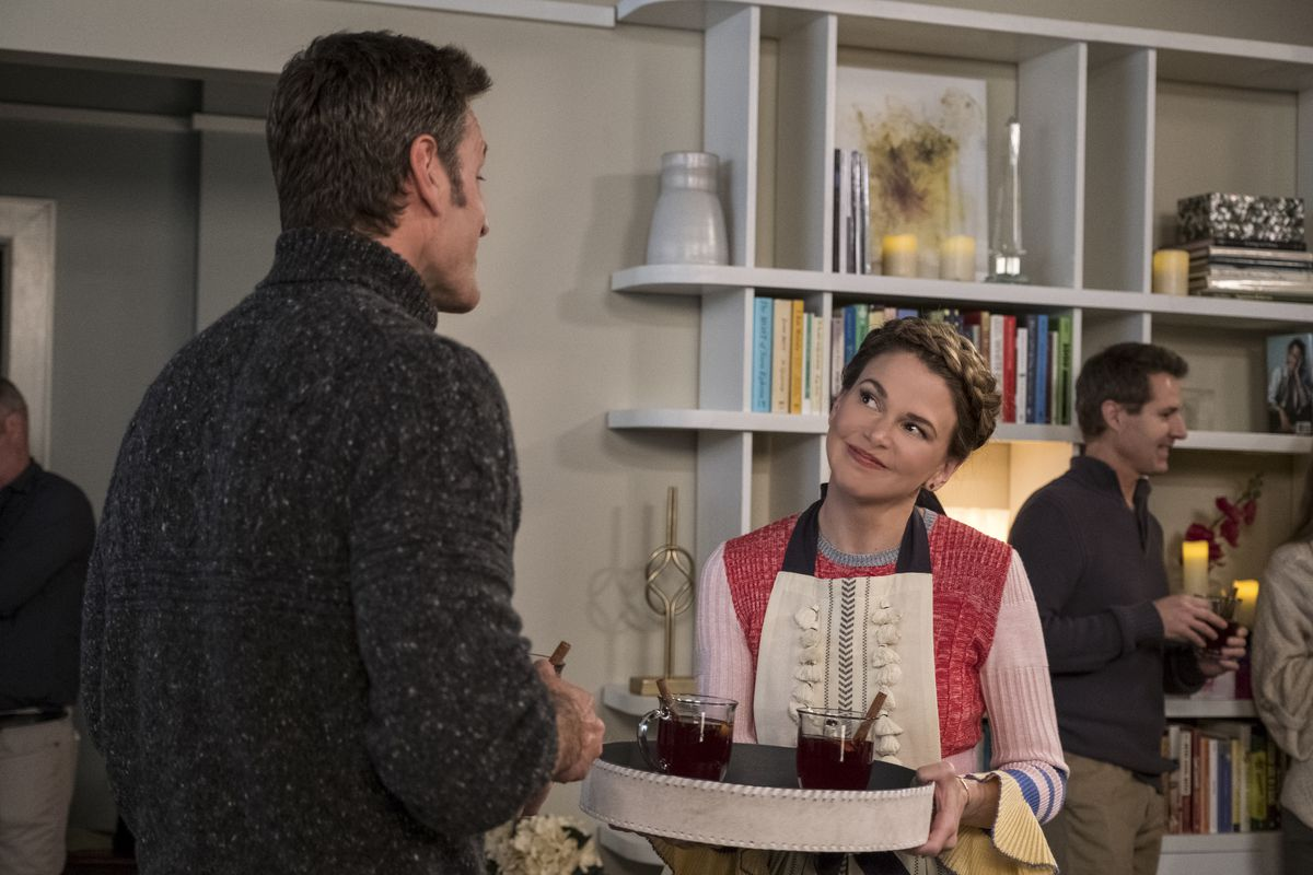 Peter Hermann as Charles Brooks and Sutton Foster as Liza Miller in season 4 of Younger.
