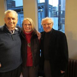 """The creative team behind Utah Festival Opera and Musical Theatre's revival of """"Rex,"""" book writer Sherman Yellen, left, director Maggie L. Harrer and lyricist Sheldon Harnick."""