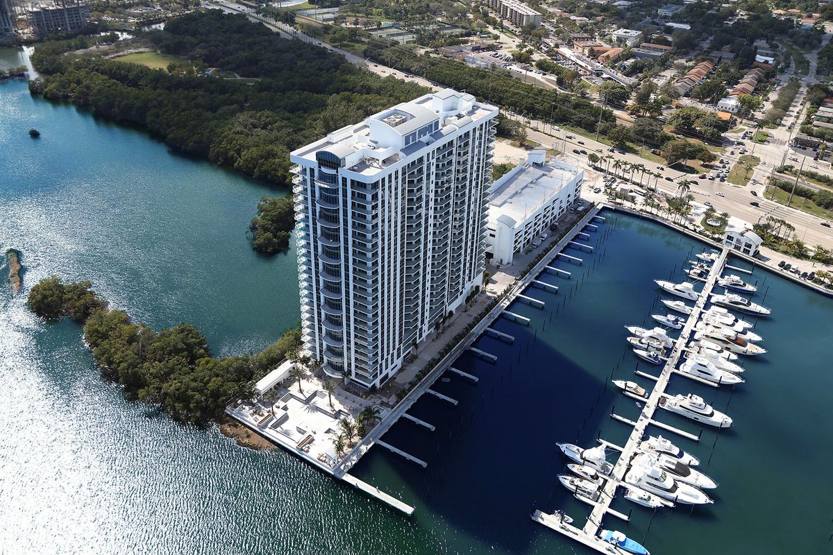 Aerial Of The Reserve At Marina Palms In North Miami Beach Courtesy Yacht Club Residences