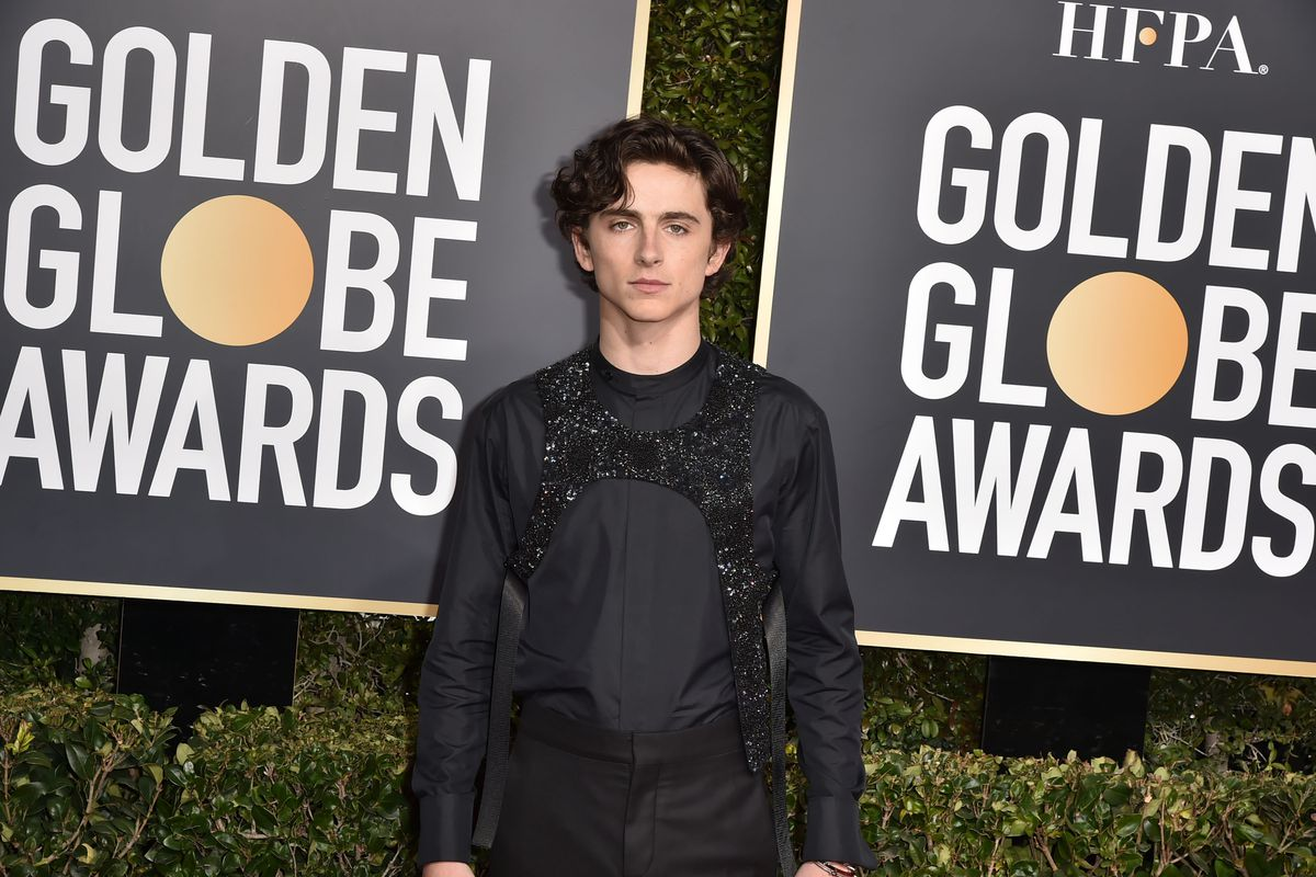 f93962cbe85782 Timothée Chalamet at the 2019 Golden Globes. Patrick McMullan Getty Images  ...