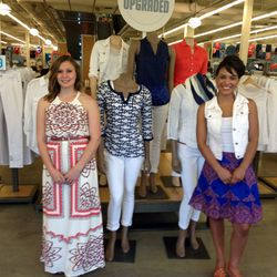 The Old Navy staff greeting people at the storefront.