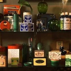 """Soaps and candles comprise the boutique's """"pharmacy."""""""