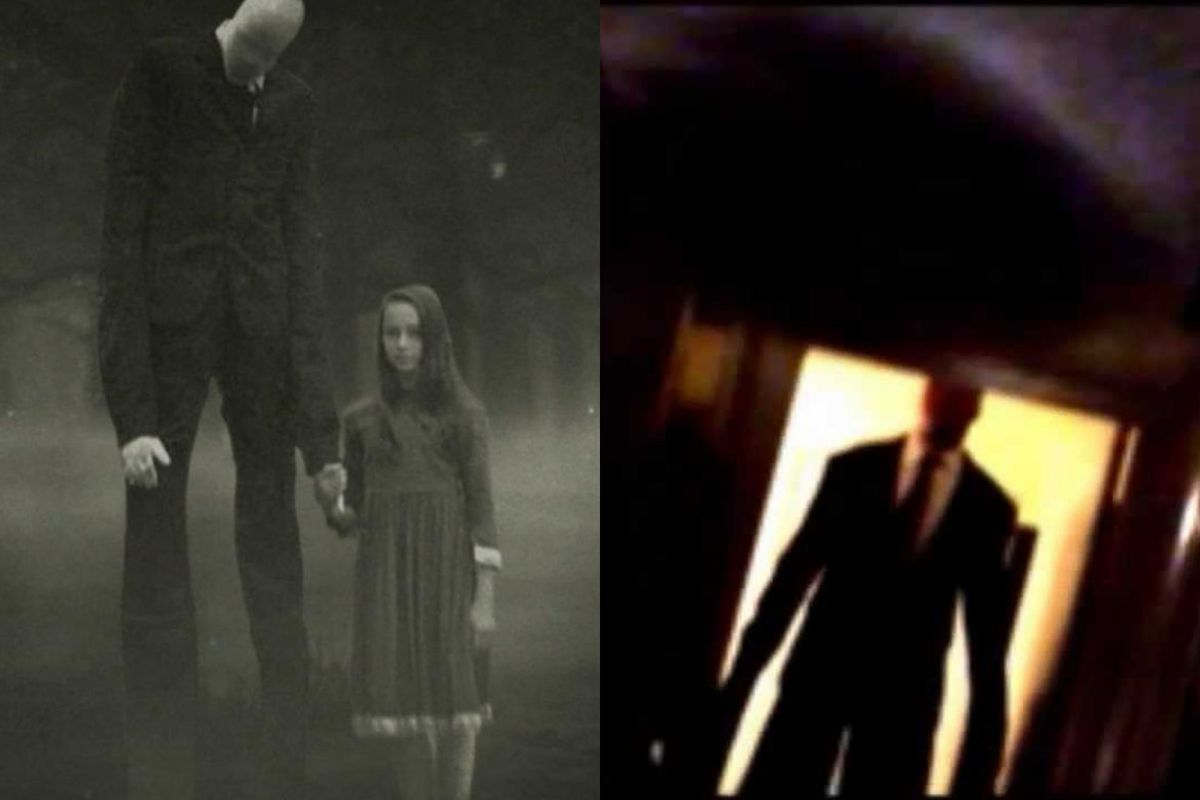A scene from Slender Man and a scene from Marble Hornets