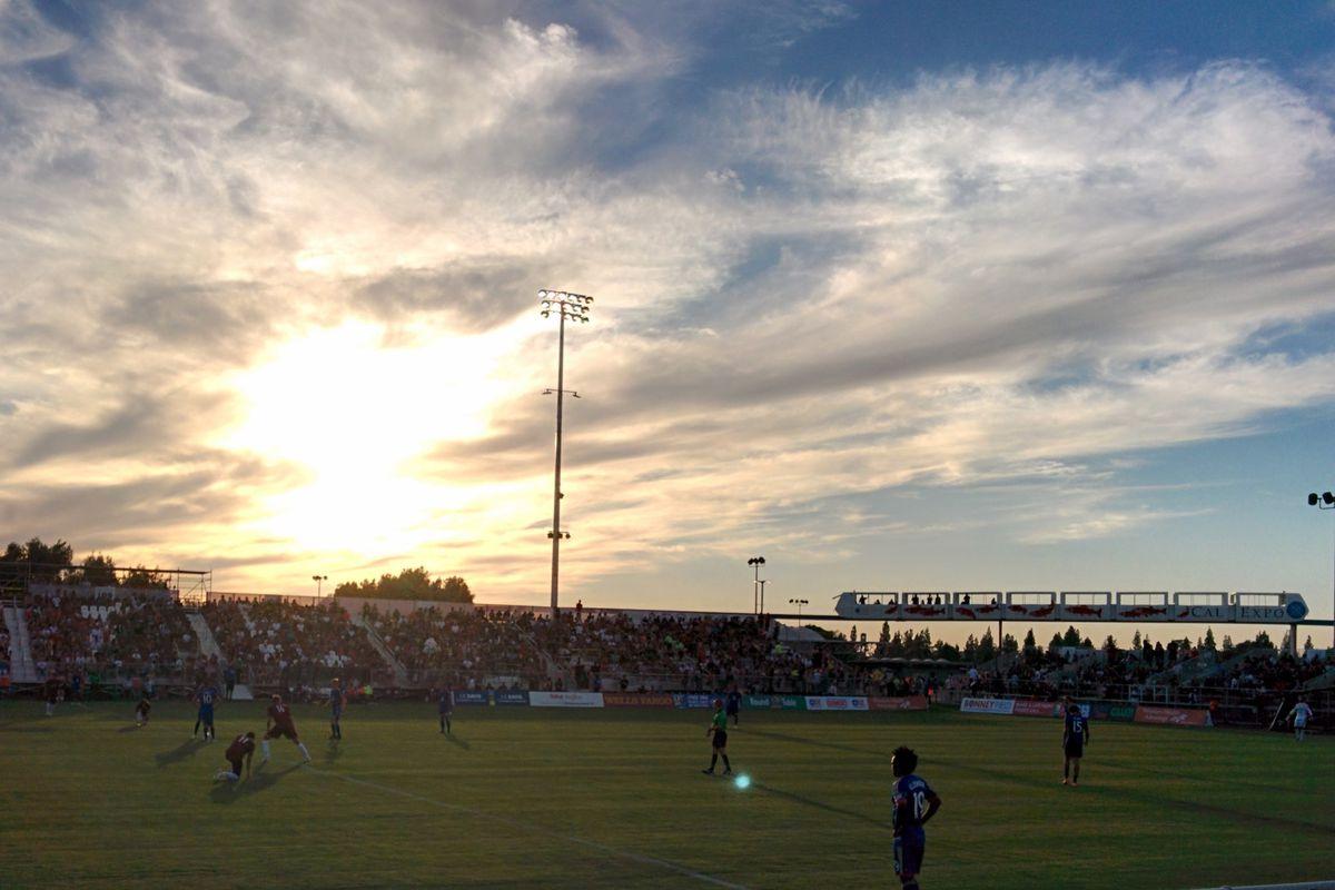 Sacramento Republic FC first game at Bonney Field