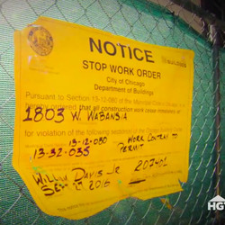Crews were given a stop-work order after the home collapsed during the rehab.   HGTV