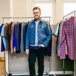 "<b>Jonathan Evans, Fashion Director</b> is wearing an <a href=""http://www.eastdane.com/washed-stretch-new-denim-jacket/vp/v=1/1526961247.htm?colorId=37336"">A.P.C. jacket</a>, <a href=""http://www.eastdane.com/friday-denim-shirt-hentsch-man/vp/v=1/153062963"