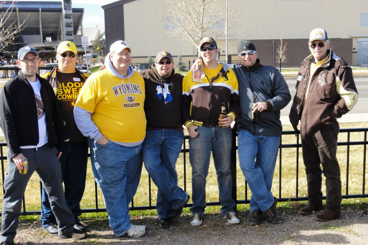 WYO1016 and crew at his usual tailgate spot before the Border War.
