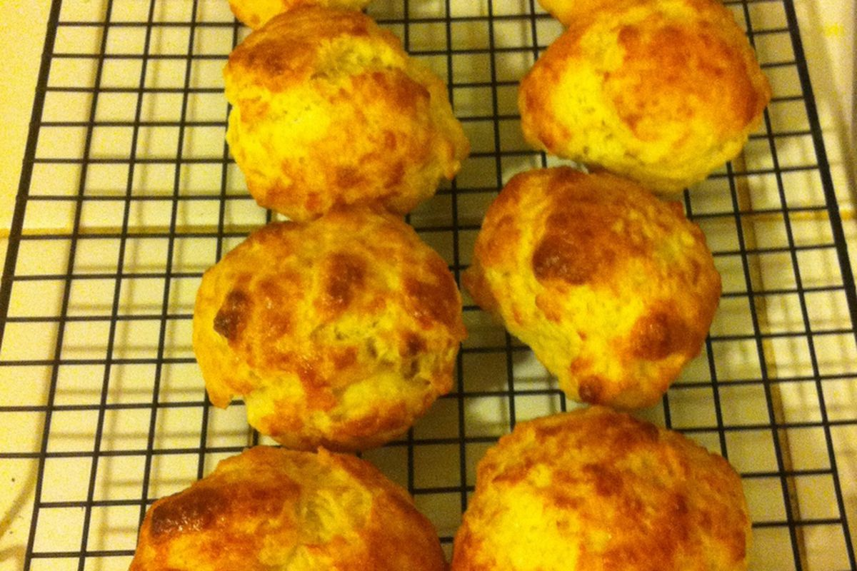 Mmm, cheese biscuits.
