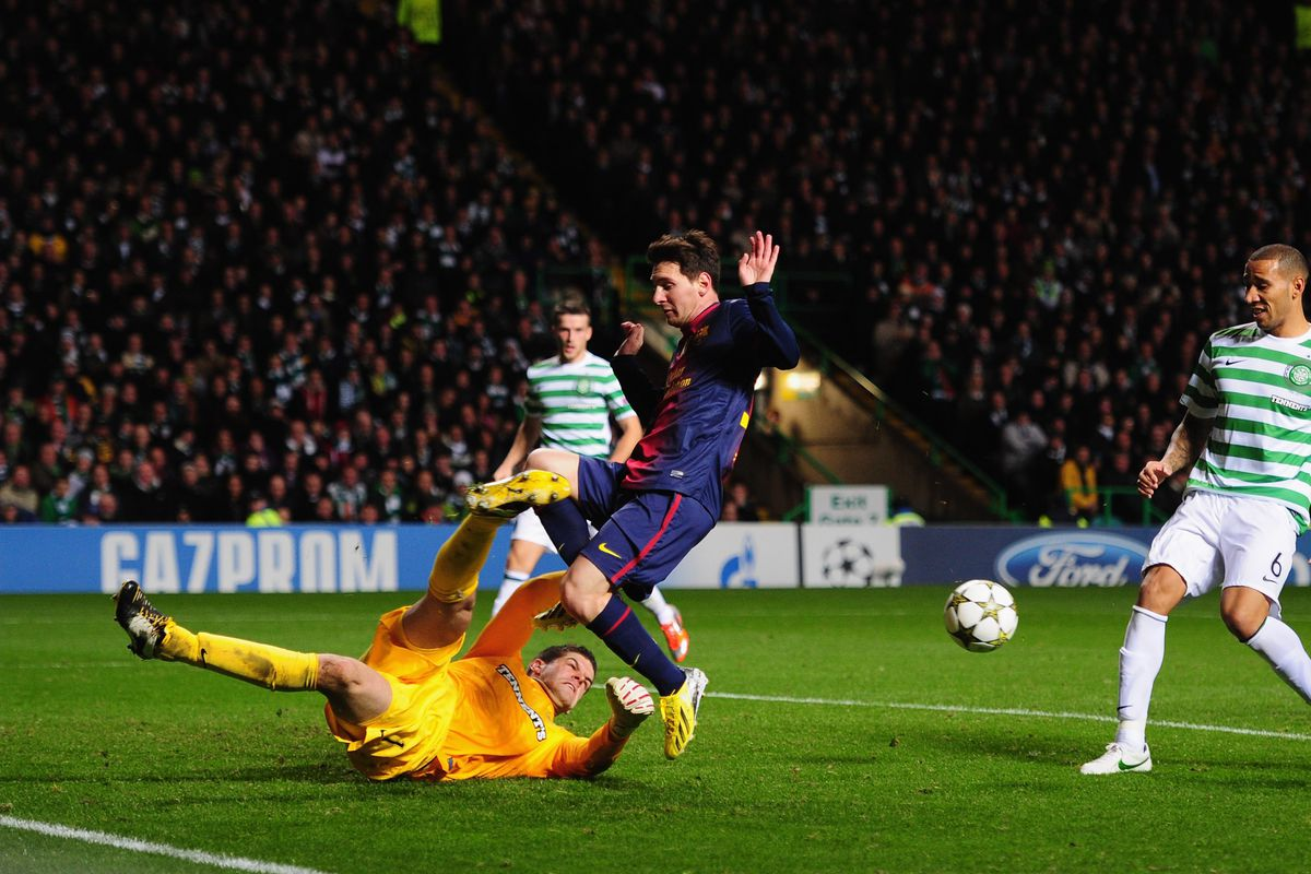 Fraser Forster bicycle-kicking Lionel Messi - what more do you need from this man?