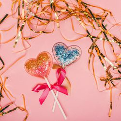 CuRious by Cynthia Rowley glitter heart-shaped lollipops, $5