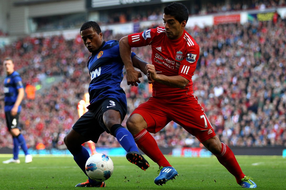 Luis Suarez has been accused of racially abusing Patrice during their encounter on October 15.