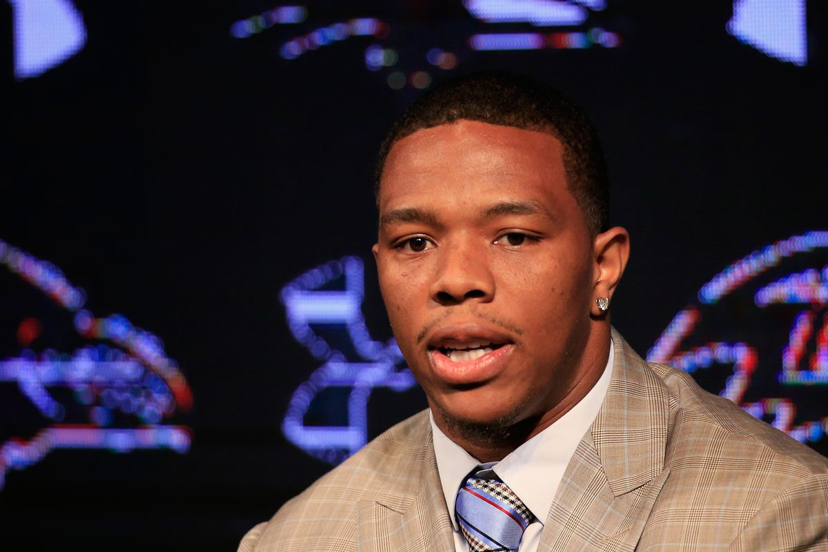 Rice speaks at a press conference in May.