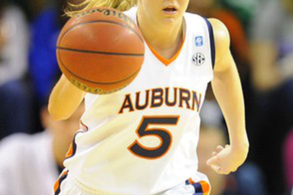 Auburn senior Alli Smalley was named First Team All South Eastern Conference Guard March 1st, 2011.