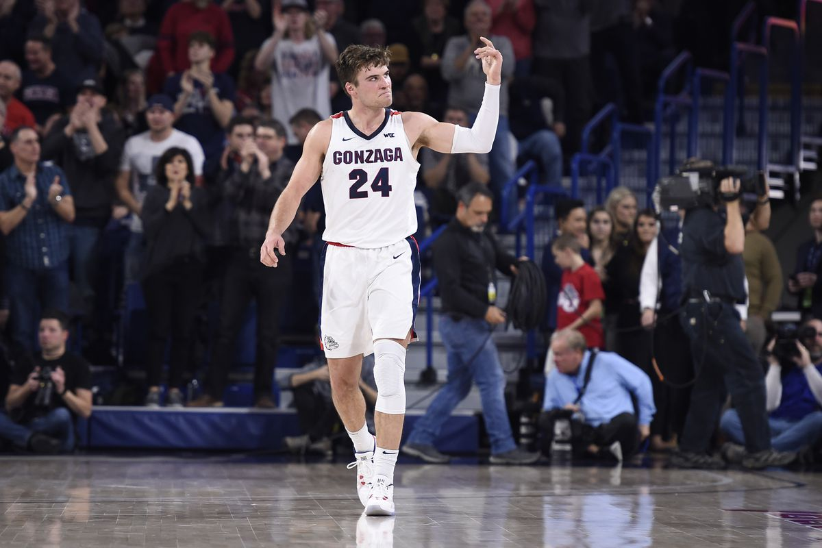 College Basketball Rankings Gonzaga Becomes Sixth No 1