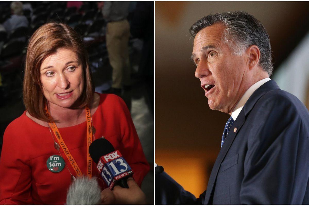 Republican Mitt Romney continues to dwarf Democrat Jenny Wilson in fundraising in the U.S. Senate race.